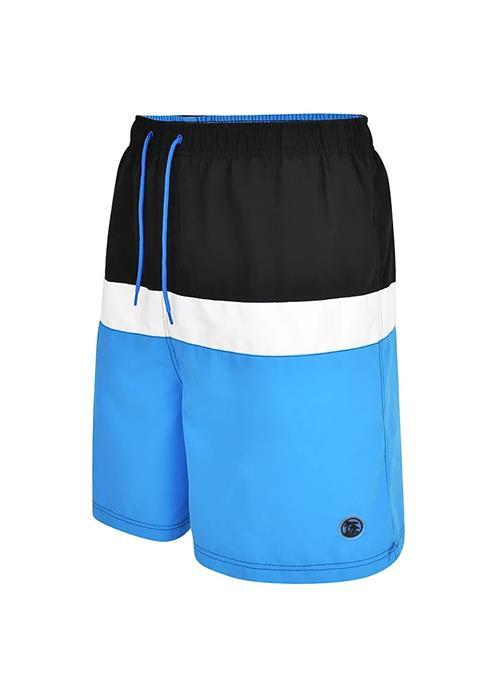 Espionage Panelled Water / Swim Shorts (Mid Blue)