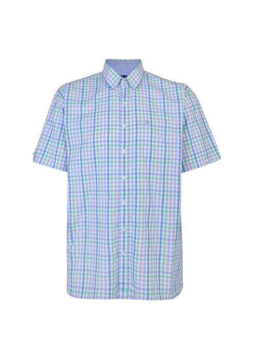 Espionage Short Sleeve Bright Neat Check (Sky/Mint/Lilac)