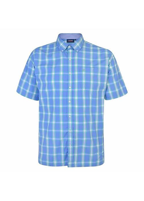 Espionage Short Sleeve Bold Multi Check (Sky/Mint)
