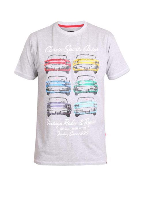 Duke Jenson Printed T-Shirt (Grey Marl)
