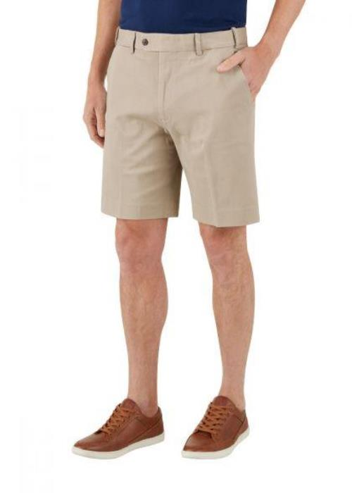 Skopes Biarritz Stretch Tailored Chino Short (Stone)