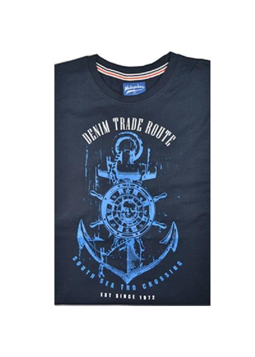Cotton Valley / Metaphor Trade Rout T-Shirt (Navy)