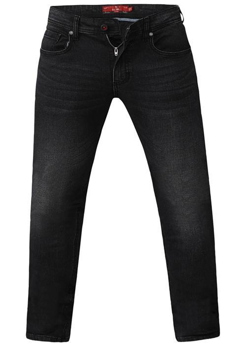 Duke Benson Tapered Leg Stretch Jeans (Grey Stonewash)
