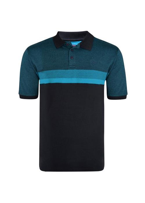 KAM Cut & Sew Polo Shirt (Breeze/Black)