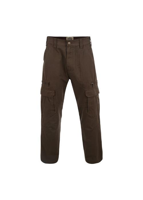 KAM Relaxed Fit Cargo Trousers (Khaki)