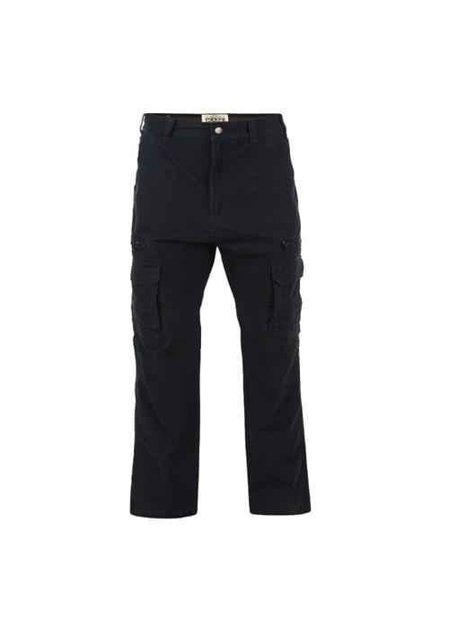 KAM Relaxed Fit Cargo Trousers (Black)