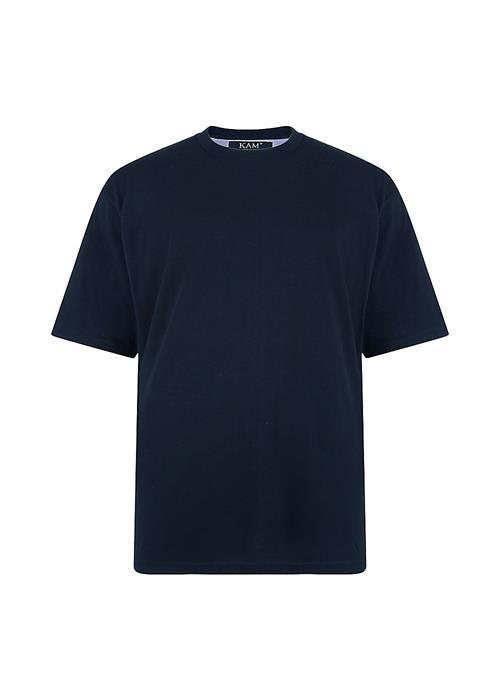 KAM Basics Crew Neck T-Shirt (Navy)