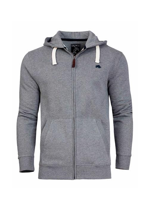Raging Bull Signature Zip Through Hoodie (Grey Marl)