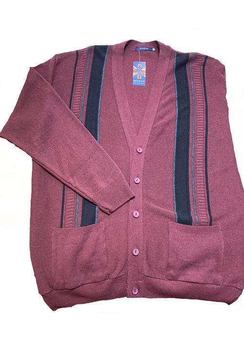 Cotton Valley / Metaphor Classic Button Cardigan (Wine)