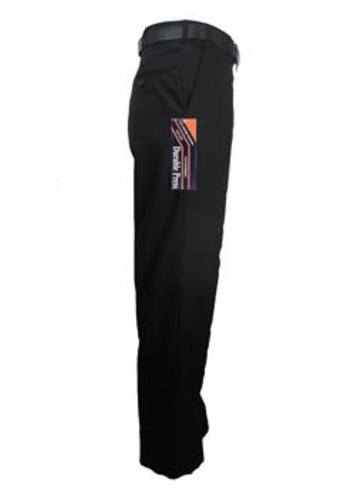 "Carabou Durable Press Trousers (Black) 42"" - 62"""