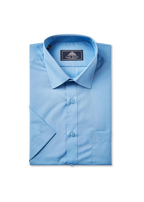 Rael Brook Short Sleeve Shirt (Mid Blue)