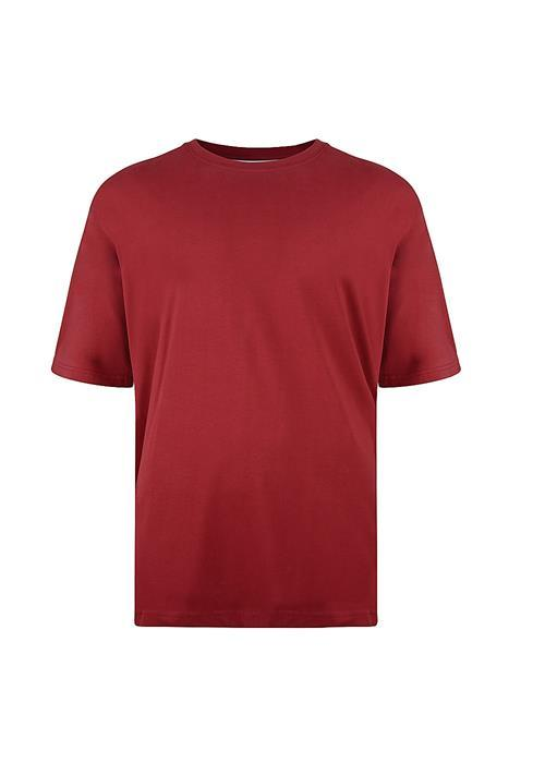 KAM Basics Crew Neck T-Shirt (Wine)