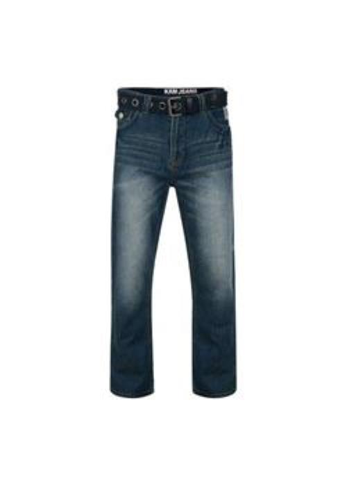 KAM Britto Relaxed Fit Jean (Stonewash)