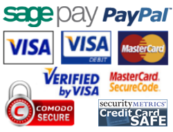 Secure Payments by Paypal and Sagepay