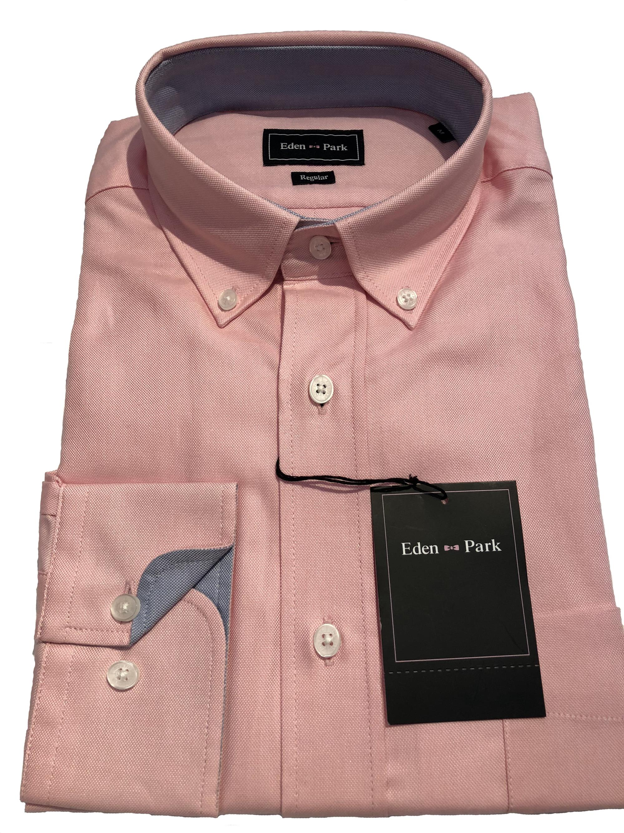 long sleeve classic oxford (pink)