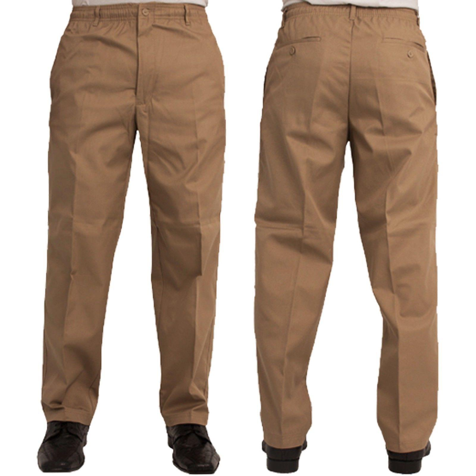 elastic waist rugby trousers (sand) (size 42