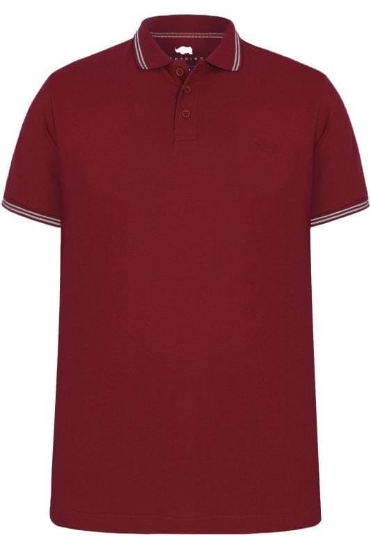 tipped polo shirt (wine)