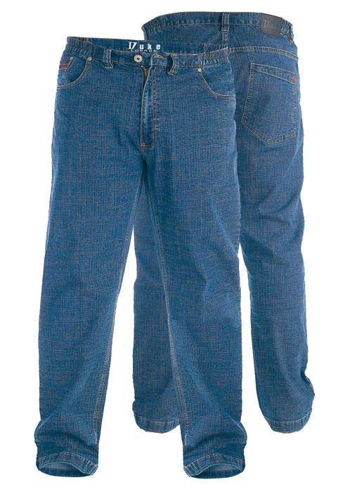 duke london kingsize relaxed comfort fit stretch jeans with elasticated waist (balfour,bailey)