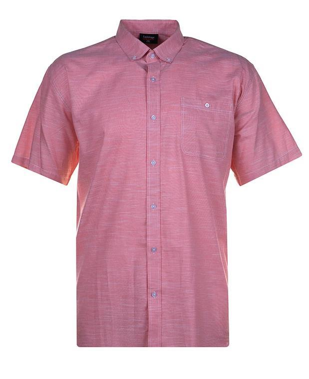 short sleeve linen effect shirt (salmon)
