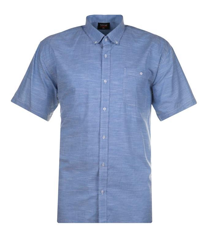 short sleeve linen effect (light blue)