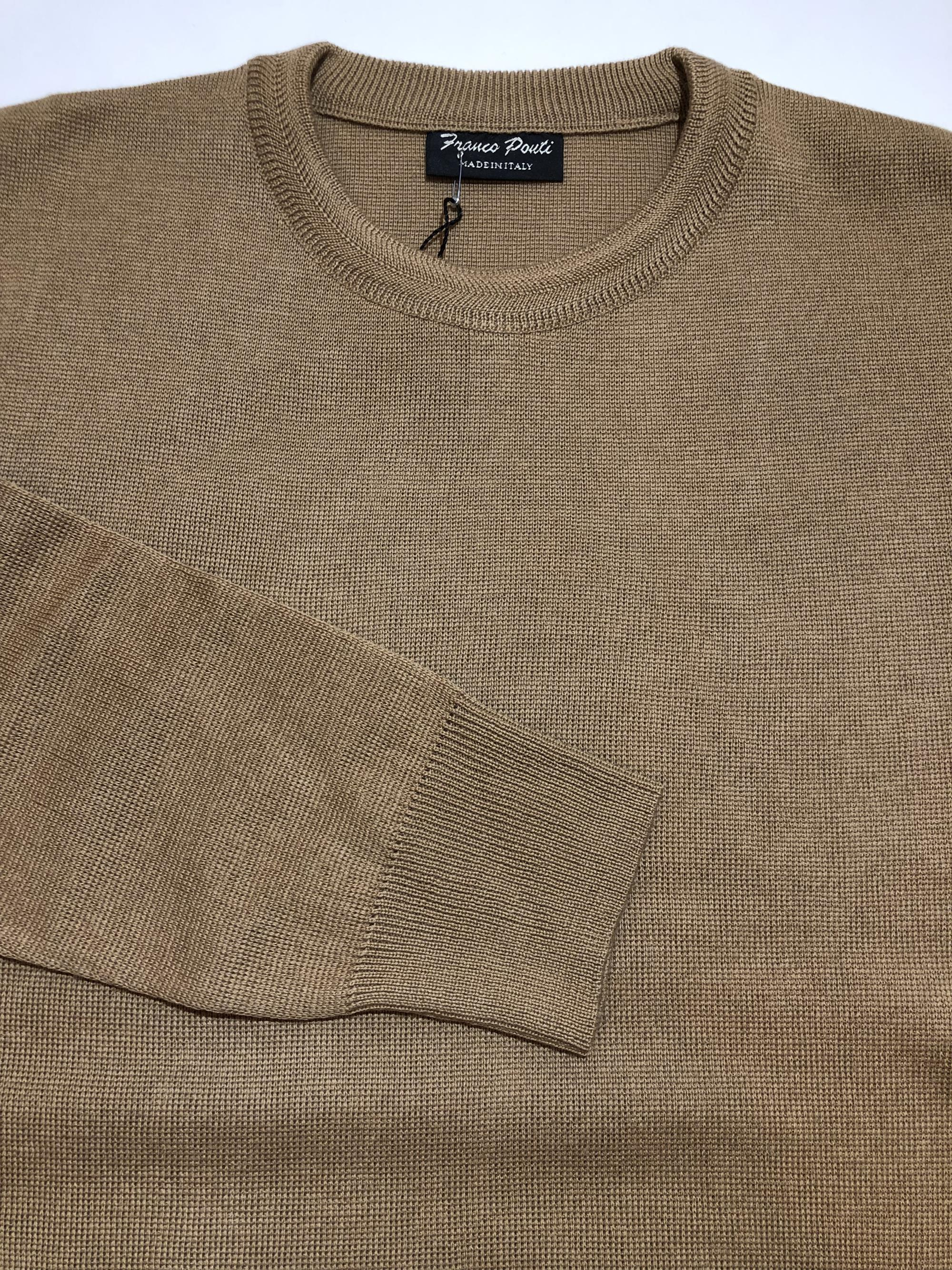 crew neck sweater (camel)