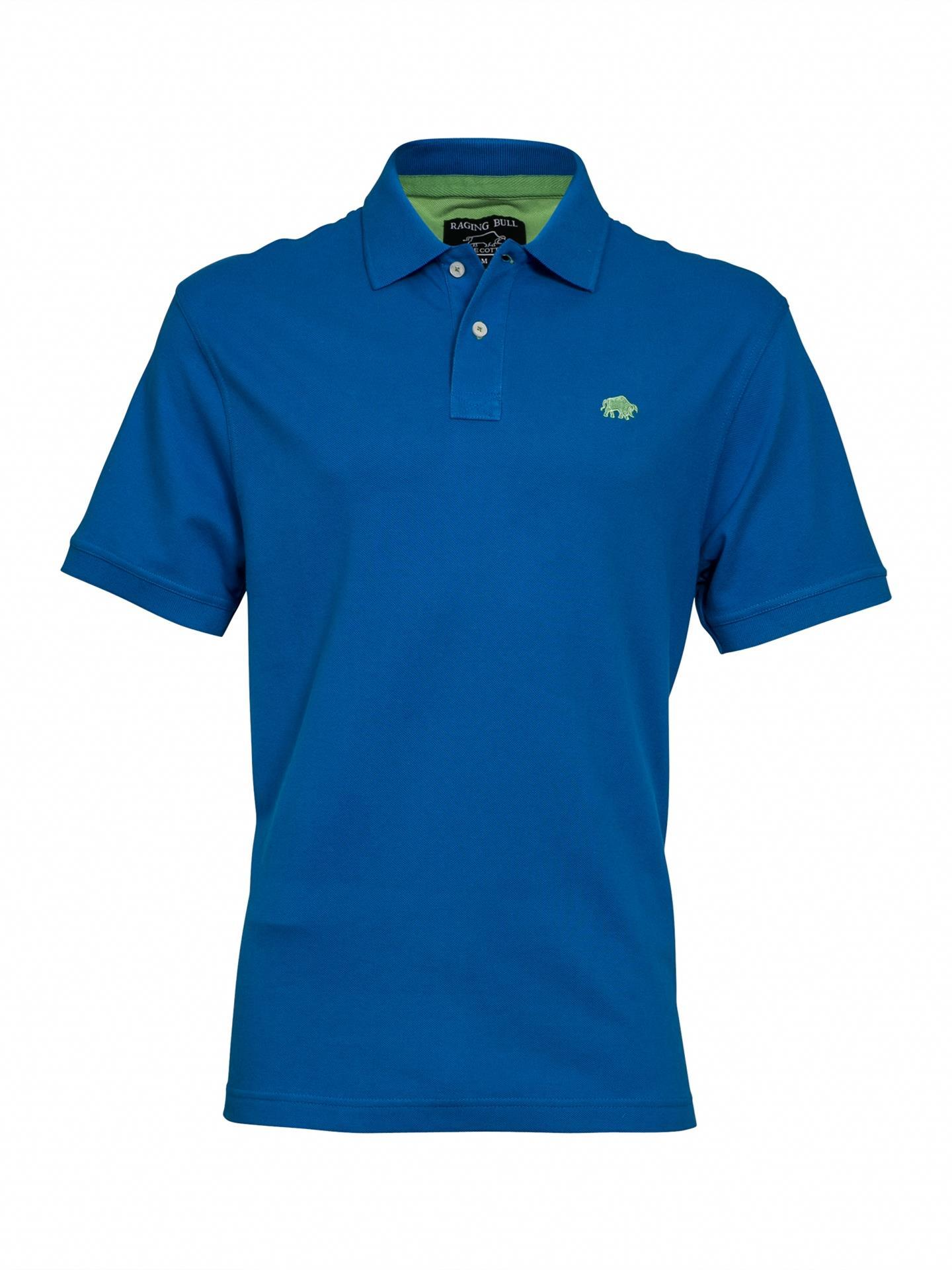 signature plain pique polo shirt (cobalt blue)