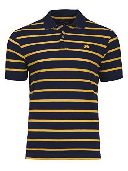 breton striped polo shirt (navy/yellow)