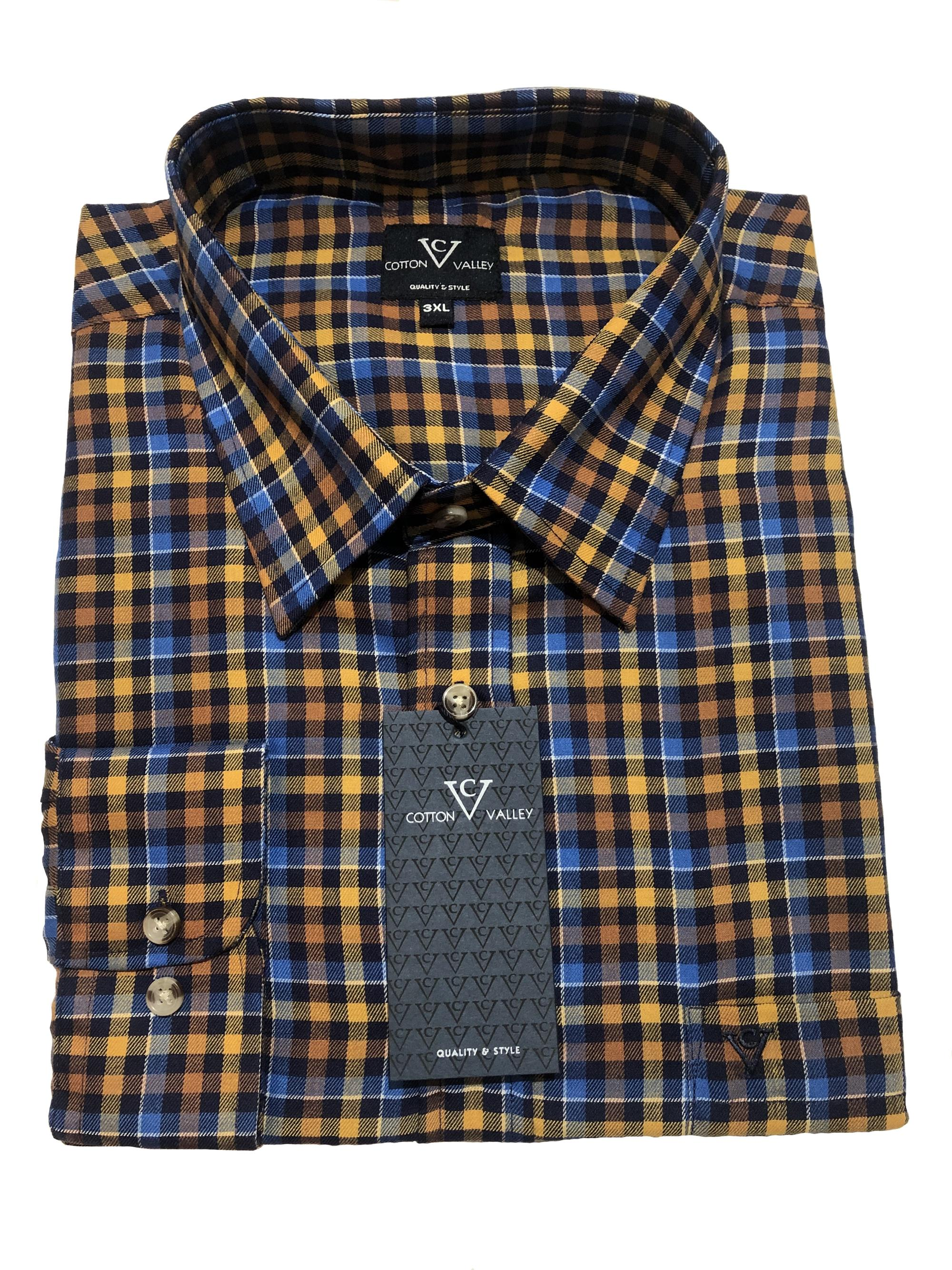 bright multi check long sleeve shirt
