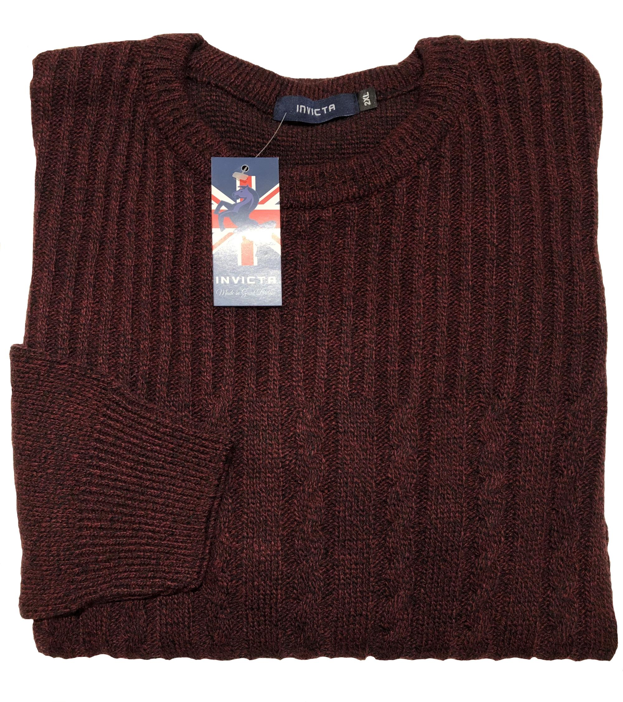 cable knit crew neck sweater (burgundy)