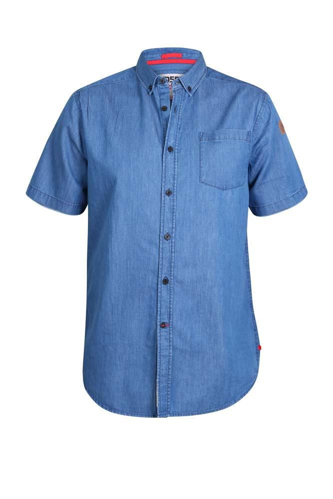 arnold short sleeve lightweight denim shirt