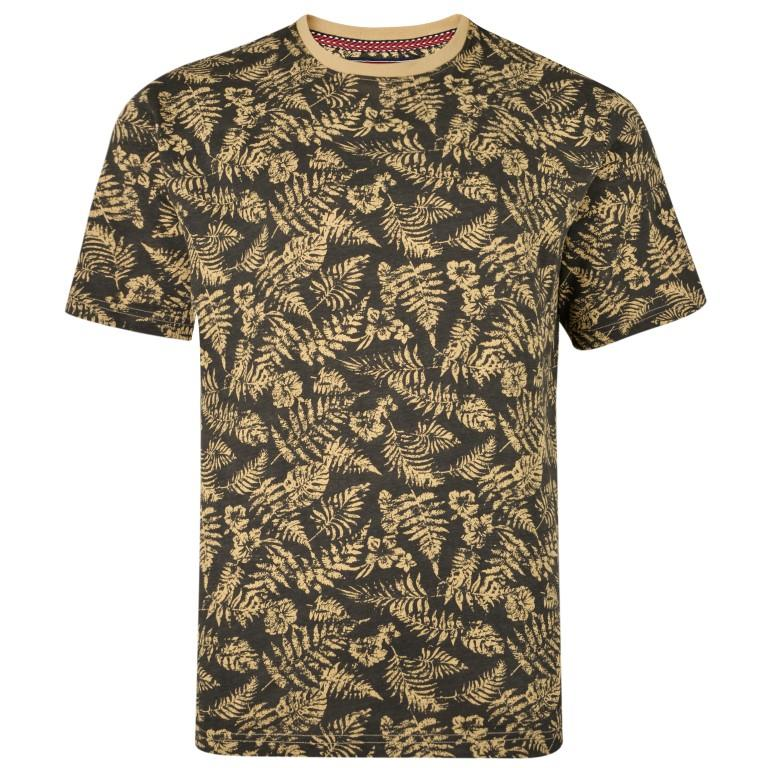floral printed t-shirt (charcoal)