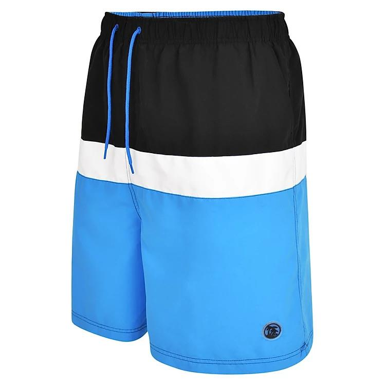 panelled water / swim shorts (mid blue)