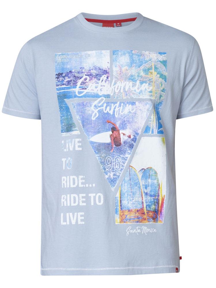 gordon printed t-shirt (sky blue)