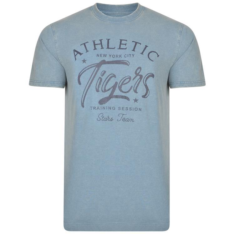 crew neck printed tigers t-shirt (petrol)