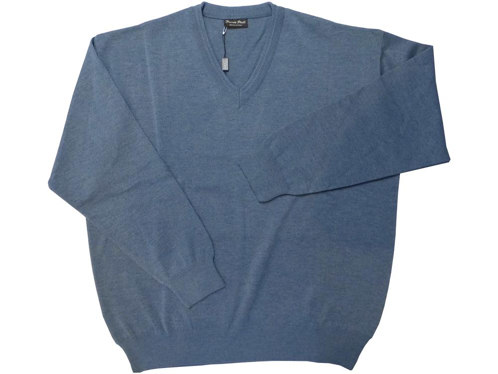 v-neck sweater (denim blue)